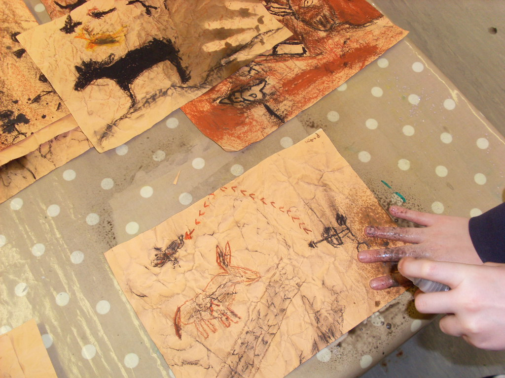 Off The Wall Cave Painting Art Activity For Kids