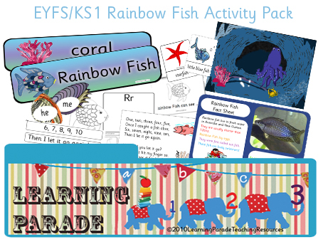 Our new Rainbow Fish Story Explorer, to use when sharing The Rainbow Fish by