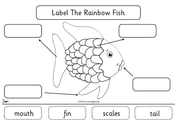graphic regarding Rainbow Fish Printable titled The Rainbow Fish Tale Device and Cost-free Printable