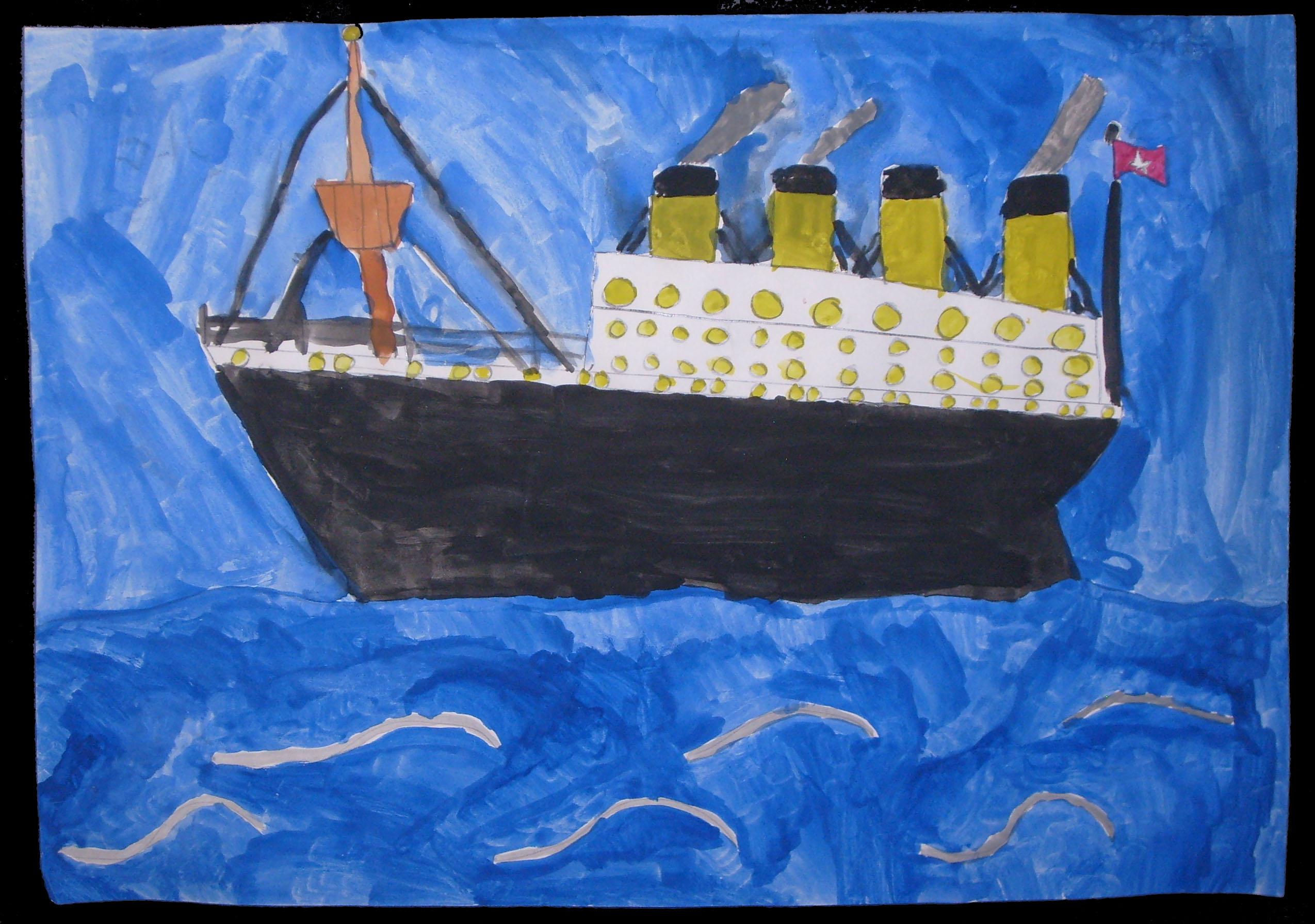 32fb9a9d Titanic Art Activity For Kids!