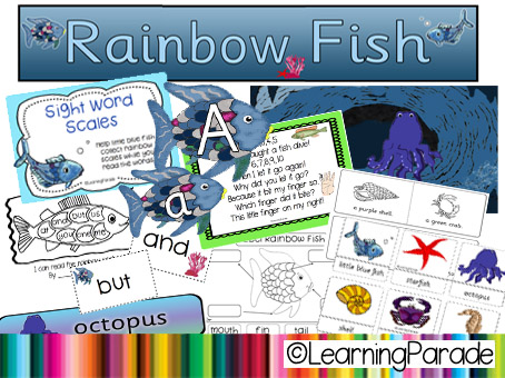 photograph about Rainbow Fish Printable referred to as The Rainbow Fish Tale Machine and Free of charge Printable