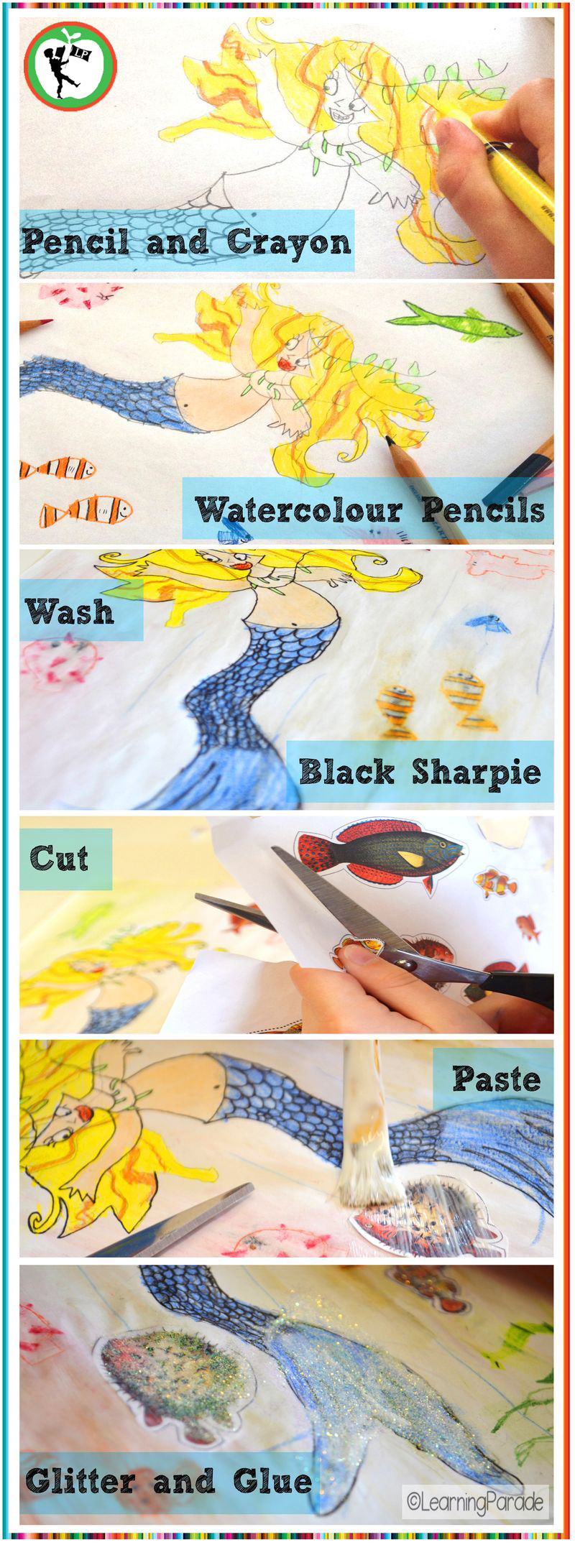 Singing-mermaid-art-activity