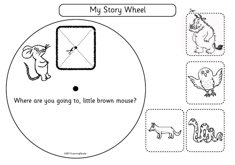 using story wheels with kids : free the gruffalo template, Powerpoint templates
