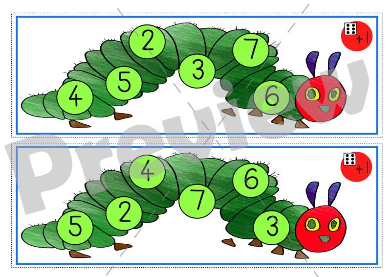 Very hungry caterpillar math game
