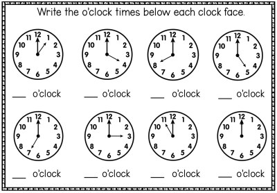 Oclockworksheet