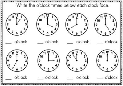 Oclockworksheet